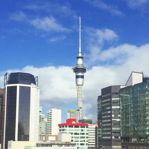 Sky Tower Auckland, gezien vanuit ons hotel