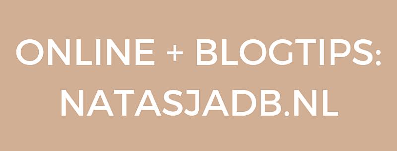 Online + blogtips op www.natasjadb.nl