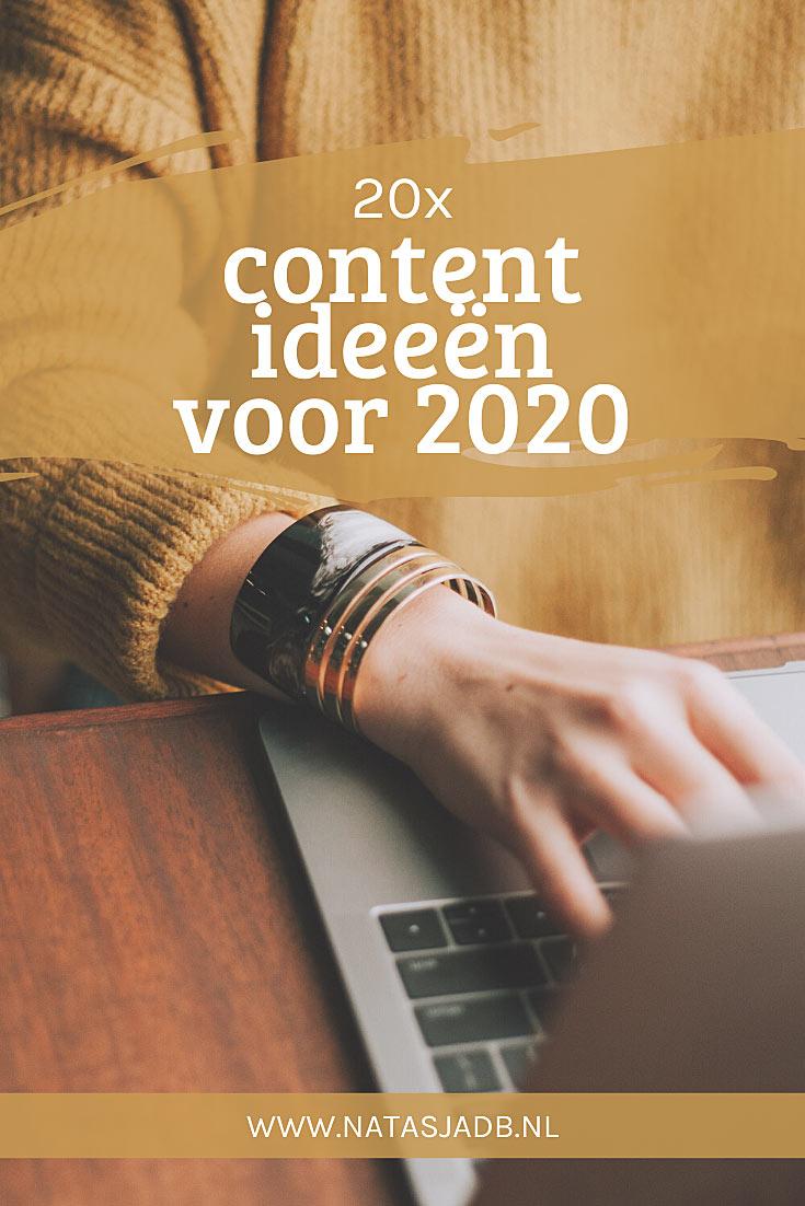 Bloggen in 2020: 20 originele content ideeën voor 2020
